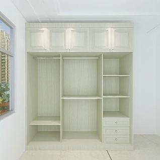 卧室简约温馨衣柜3d模型
