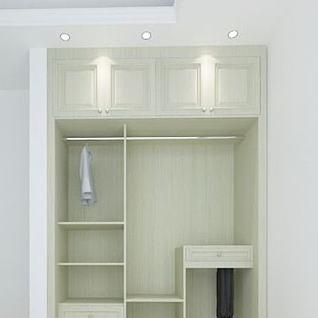 简约衣柜3d模型