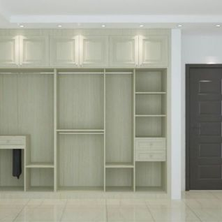 入墙式衣柜3d模型