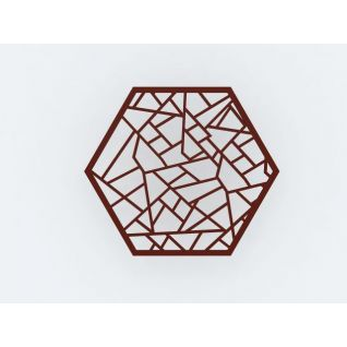六边形花格隔断3d模型3d模型