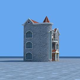 城堡别墅3d模型