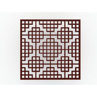 方形花格隔断3d模型