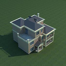 漂亮小别墅3d模型