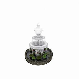 广场喷泉3d模型