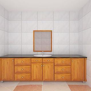 卫生间柜子3d模型