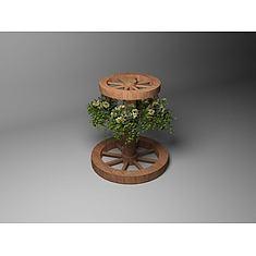 木质花架3D模型3d模型