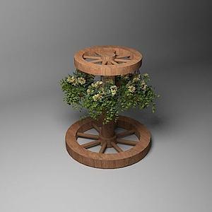 木質花架3d模型