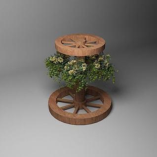 木质花架3d模型