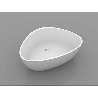 三角形浴缸3d模型
