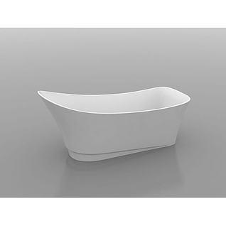 独立浴缸3d模型