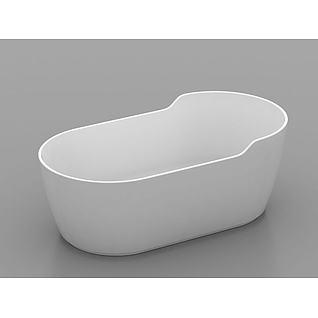 品质独立浴缸3d模型