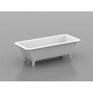 独立浴盆3d模型