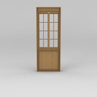 实木门窗3d模型