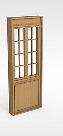 实木门窗模型