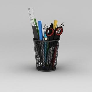 铁质笔筒3d模型3d模型