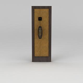 隔断墙壁灯3d模型