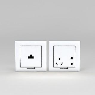 墙壁插座3d模型3d模型