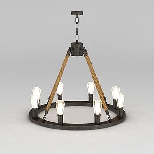 工业风吊灯3d模型3d模型