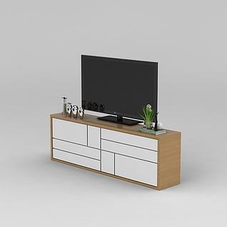 现代电视柜3d模型3d模型