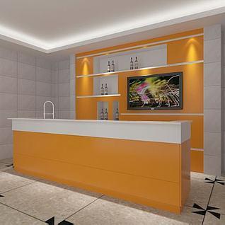 家庭酒吧台3d模型