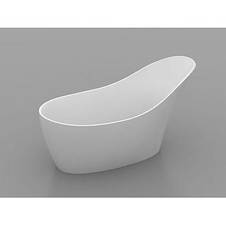 创意浴缸3d模型
