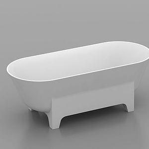 独立浴缸模型