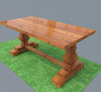 碳化木桌子