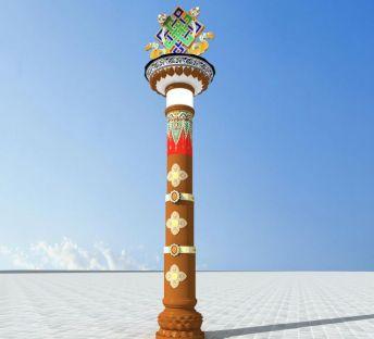 藏式特色路灯