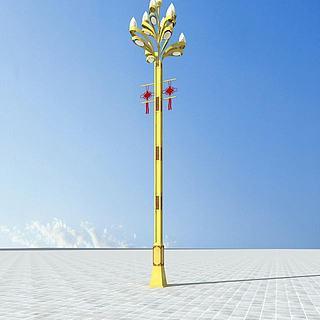 藏式路灯3d模型图片