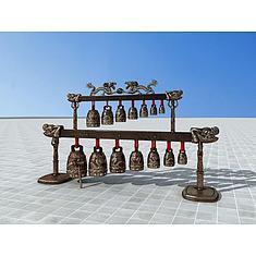 古代编钟3D模型3d模型