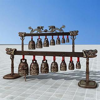 古代编钟3d模型