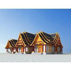 傣族建筑3D模型3d模型