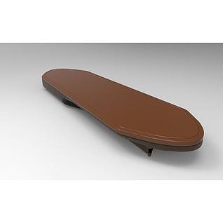 无轮滑板3d模型