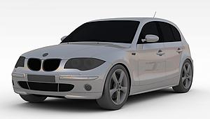 3d宝马SUV车型模型