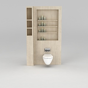 卫生间智能马桶模型