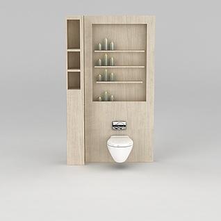 卫生间智能马桶3d模型