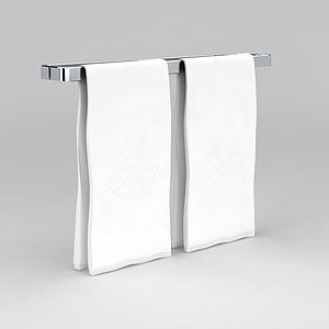 浴室毛巾架模型