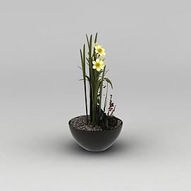 日式装饰花瓶3d模型