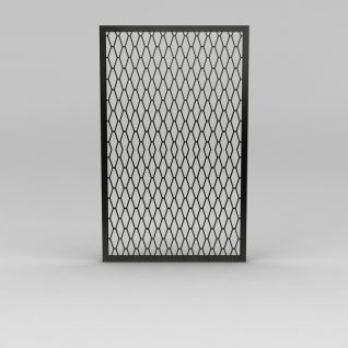 防盗窗3d模型