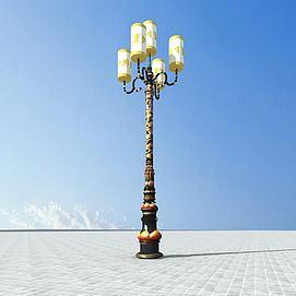 藏式路灯模型