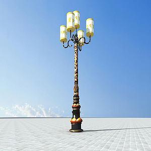 藏式路灯模型3d模型