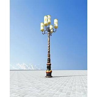 藏式路灯3d模型3d模型图片