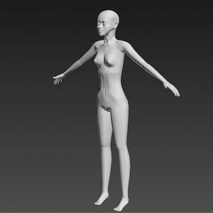 仿真女性人体模型