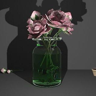 鲜花花瓶3d模型