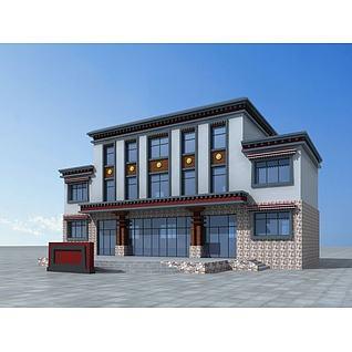 藏族村委会3d模型