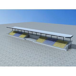 露天体育场看台3d模型