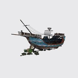 复古木<font class='myIsRed'>帆船</font>3d模型