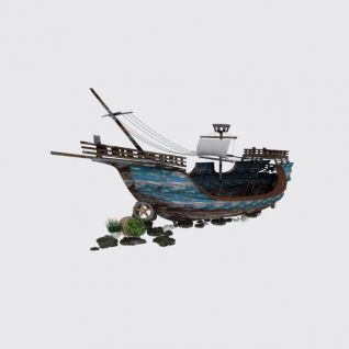 复古木帆船模型3d模型