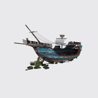 复古木帆<font class='myIsRed'>船</font>3d模型