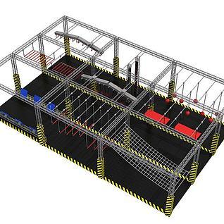 拓展训练设施3d模型